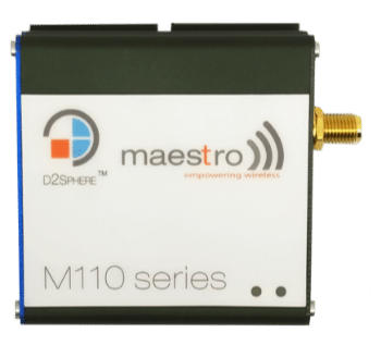 The M110 Series modems offer two versatile I/Os, either 2-way or 3-way, depending on model selection.
